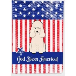 Patriotic USA Poodle White Flag Canvas House Size BB3065CHF