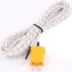 K Type Temperature Controller Thermocouple Probe Wire Lead -50 to +204C 300cm