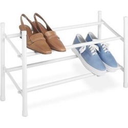 Whitmor Expandable and Stackable Shoe Rack, White