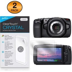 Blackmagic Pocket Cinema Camera 4K Screen Protector, BoxWave [ClearTouch Crystal (2-Pack)] HD Film Skin - Shields from Scratches for Blackmagic Pocket