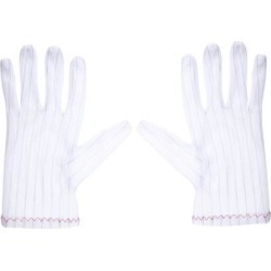Anti Static Gloves Full Finger Labor Non-slip Glove for Electronics 230x100mm White 2 Pairs