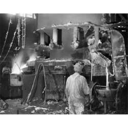 Posterazzi SAL25528950 Two Foundry Workers Working in a Steel Foundry Poster Print - 18 x 24 in.