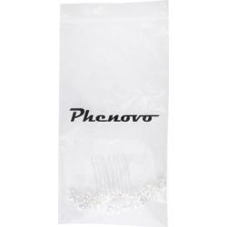 Phenovo Bridal Wedding Faux Pearl Leaves Rhinestone Hair Comb Hair Accessory