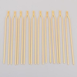 10Pcs Antique Alloy Hair Pin Sticks Chinese Hair Clips Bridal Wedding Golden