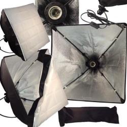 Softbox Video Light Photo Studio Lighting 50*50cm/20x20' Light head E27 socket