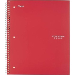 Five Star Wirebound Wide Ruled Notebook 5 Subject - Clearance
