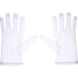Anti Static Gloves Full Finger Labor Non-slip Glove for Electronics 200x90mm White 5 Pairs