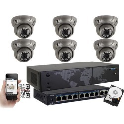 GW Security 8 Channel 5MP H.265 NVR IP Camera Network PoE Surveillance System (2TB HDD), 6 x HD 1920P Weatherproof Dome Security Cameras (Super 5MP is found on Bargain Bro India from Newegg Business for $799.00