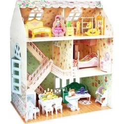 3D Puzzle Toy Dreamy Doll House Furniture and People Interlocking Pieces Educational Toys for Kids Child