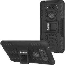 Amzer Hybrid Warrior Dual Layer Protection Soft Cover Hard Shell Case With Stand for LG V20