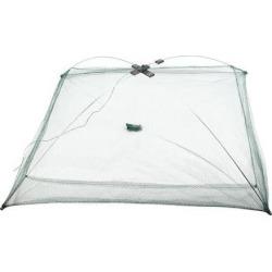Unique Bargains 2.8 x 2 Umbrella Crab Bait Cast Lures Dip Fishing Net for Fishermen Green Silver Tone
