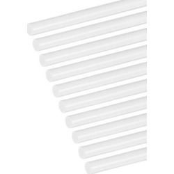 5/32×20 inch ABS Plastic Round Bar Rod for Architectural Model Making DIY White 10pcs