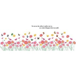 Unique Bargains Window Room Art Decal PVC Flower Fence Pattern Wall Sticker Wallpaper Decor found on Bargain Bro India from Newegg Canada for $11.53