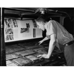 Posterazzi SAL2555946 Side Profile of a Male Worker in a Printing Press Poster Print - 18 x 24 in. found on Bargain Bro India from Newegg Canada for $52.03