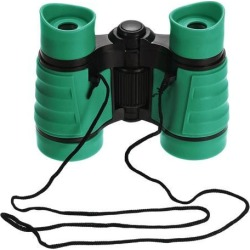Toy Binoculars 4X30 Compact Foldable Binoculars Shock Proof Green with Neck Strap for Bird Watching Hiking Camping