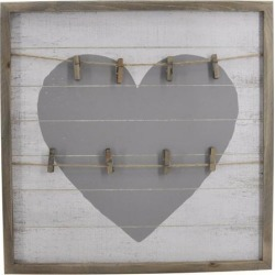 TX USA Corporation Hanging Square Framed Heart Shaped Wall Clips - Multicolor found on Bargain Bro India from Newegg Canada for $45.90