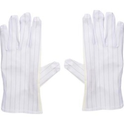 Anti Static Gloves Full Finger Labor Non-slip Glove for Electronics 230x90mm Light Yellow 5 Pairs