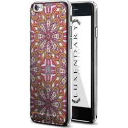 LUXENDARY PINK & YELLOW BOHO STYLE PATTERN DESIGN CHROME SERIES CASE FOR IPHONE 6/6S PLUS