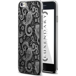 LUXENDARY BLACK PAISLEY DESIGN CHROME SERIES CASE FOR IPHONE 6/6S PLUS