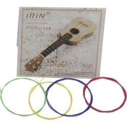 IRIN 4 Pcs Colored Nylon Ukulele Strings Guitar Strings Set Parts 0.56mm, 0.71mm, 0.81mm, 0.56mm