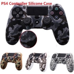 Camouflage Soft Silicone Case Skin Grip Cover for PlayStation 4 PS4 Controller skeleton