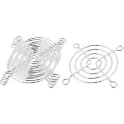 Unique Bargains 5 Pcs 60x 60mm Cooling Fan Grill Metal Wire Finger Guards