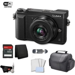 Panasonic Lumix 4k Mirrorless Micro Four Thirds Digital Camera with 12-32mm Lens (Black) Bundle with 32GB Memory Card + Carrying Case + More