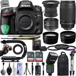 Nikon D610 24.3MP 1080P DSLR Camera w/ 3.2' LCD - Wi-Fi & GPS Ready + 5 Lens - 15 to 600mm - 128GB - 30PC Kit - Nikon 50mm 1.8D - Nikon 70-300G.