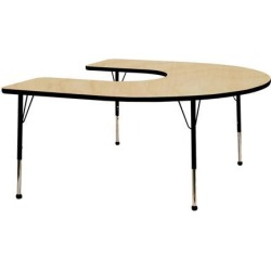 Mahar Manufacturing M6066HTL-SN Horseshoe Activity Table with Maple Top and Teal Edge, 60 x 66 in. found on Bargain Bro India from Newegg Canada for $510.52