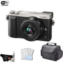 Panasonic Lumix 4k Mirrorless Micro Four Thirds Digital Camera with 12-32mm Lens (Silver) Bundle with Carrying Case