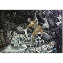 Posterazzi SAL9999189 Zacchaeus in the Sycamore Tree James Tissot 1836-1902 French Poster Print - 18 x 24 in.