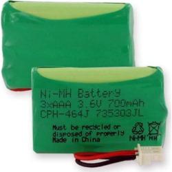 Empire CPH-464J 3.6V 1 x 3 in. 3 AAA Nickel Metal Hydride Battery 700 mAh & J Connector - 2.52 watt