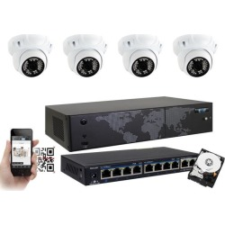 GW Security 8 Channel 5MP H.265 NVR IP Camera Network PoE Surveillance System (2TB HDD), 4 x HD 1920P Weatherproof Dome Security Cameras (Super 5MP is found on Bargain Bro India from Newegg Business for $649.00