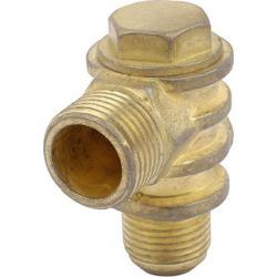 1/2BSP x 3/8BSP x 1/8BSP Thread Air Compressor Check Valve Gas Pilot Brass Tone