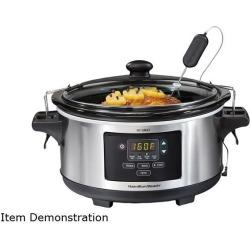 Hamilton Beach 33963 Set & Forget 6 Quart Programmable Slow Cooker