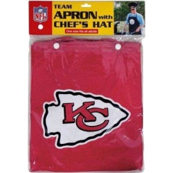 NFL Team Logo Kitchen Home Outdoor Kansas City Chiefs Apron and Chef Hat