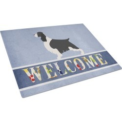 English Springer Spaniel Welcome Glass Cutting Board Large BB8273LCB