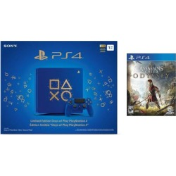 Playstation 4 Assassin's Creed Odyssey Days of Play Bundle: Assassin's Creed Odyssey Game and Limited Edition Days of Play Playstation 4 Slim 1 TB.