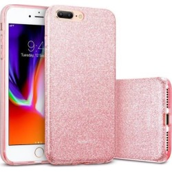 iPhone 8 Plus Case, iPhone 7 Plus Case, ESR [Makeup Series] Sparkle Bling Shinning Back Shell Skin [Three Layer Design with Soft TPU Bumper] Glitter