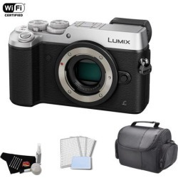 Panasonic Lumix Mirrorless Micro Four Thirds Digital Camera 4k 16MP (Body Only, Silver) Bundle with Carrying Case
