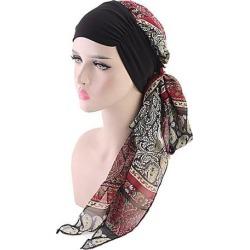 Women Cancer Hat Chemo Inner Cap Hair Loss Head Scarf Turban Wrap Multicolor