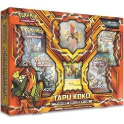 Pokemon TCG Tapu Koko Figure Collection Trading Card Game Booster Packs Set