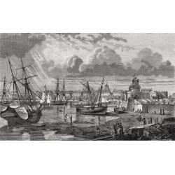 Posterazzi DPI1858245 Saint Malo France in The 18th Century From Histoire De La Revolution Francaise by Louis Blanc Poster Print, 19 x 12