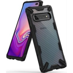 Ringke Fusion-X Design DDP Compatible with Galaxy S10 Plus Case, Semi Opaque PC Back with TPU Bumper Stylish Protection Cover for Galaxy S10+ -