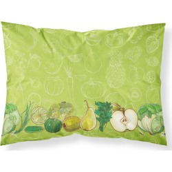 Fruits and Vegetables in Green Fabric Standard Pillowcase BB5135PILLOWCASE