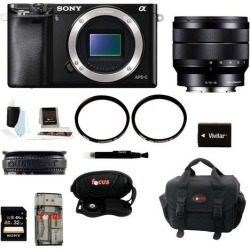 Sony a6000: Alpha A6000 Mirrorless Digital Camera (Body) with 10-18mm Lens and 32GB Deluxe Accessory Kit