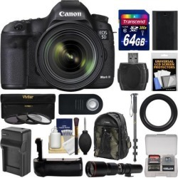 Canon EOS 5D Mark III Digital SLR Camera with EF 24-70mm f/4.0L IS USM Lens with 500mm Telephoto Lens + 64GB Card + Backpack + Battery & Charger +.