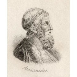 Posterazzi DPI1856787 Archimedes of Syracuse Sicily 287Bc-212Bc Mathematician. Engraved by J.W.Cook Poster Print, 13 x 16