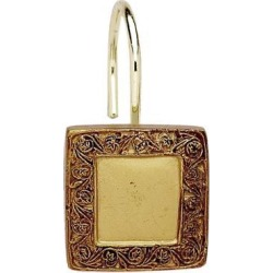 Carnation Home Fashions Indoor Lakewood Resin Shower Curtain Hooks in Gold