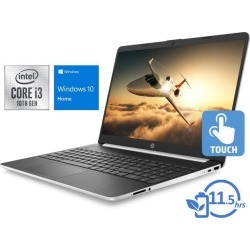HP 15 Notebook, 15.6' HD Touch Display, Intel Core i3-1005G1 Upto 3.4GHz, 8GB RAM, 128GB SSD, HDMI, Card Reader, Wi-Fi, Bluetooth, Windows 10 Home.